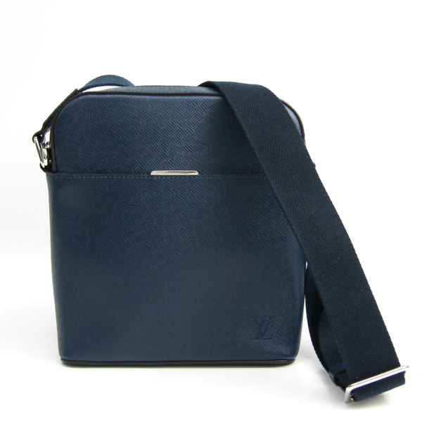 Louis Vuitton Taiga Anton Pochette M33430 Men's Shoulder Bag Navy Blue