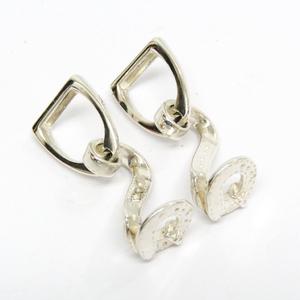 Hermes Metal Cufflinks Silver Cufflinks Cufflinks harness stirrup belt cufflinks