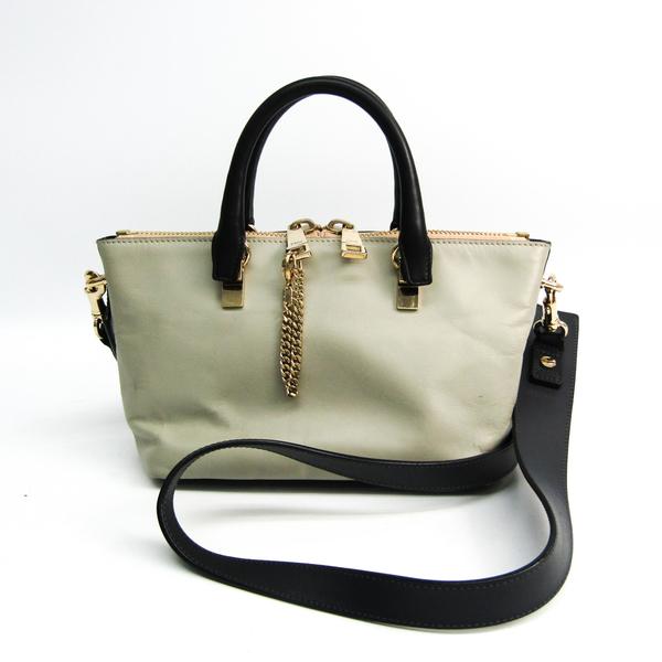 Chloé Baylee Mini 3S0171 Women's Leather Handbag,Shoulder Bag Gray,Navy Black