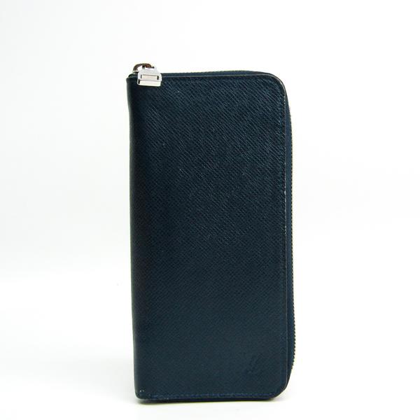 Louis Vuitton Taiga Zippy Wallet Vertical M30510 Men's Taiga Leather Long Wallet (bi-fold) Navy Blue