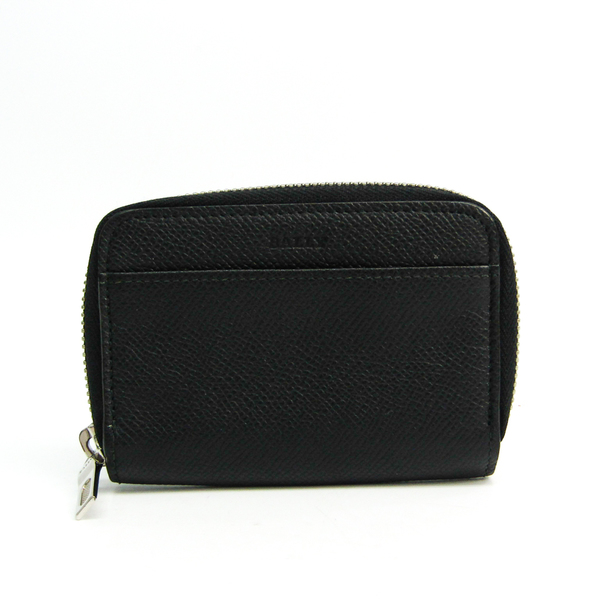 Bally Card Case Unisex Leather Coin Purse/coin Case Black,Blue