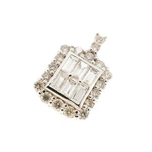 ペンダントトップ ダイヤモンド 0.30 / 0.9ct K18WG ホワイトゴールド