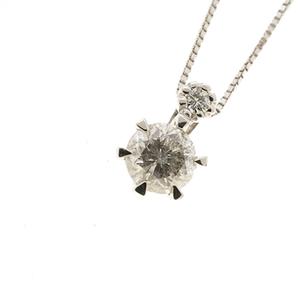 ネックレス ダイヤモンド 0.3 / 0.01ct Pt850 / 900 プラチナ 一粒ダイヤ ペンダント