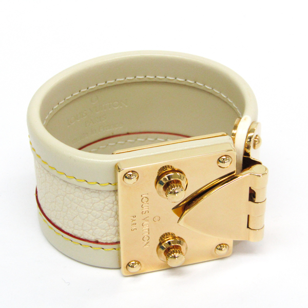 Louis Vuitton Suhali Brassere Serule S M92632 Leather Bracelet Ivory
