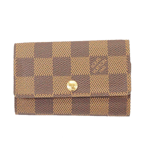 Auth Louis Vuitton Damier N62630 Men,Women,Unisex  Key Case Ebene