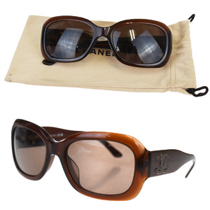 Chanel Sunglasses Brown CC Logo