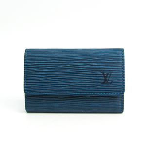 Louis Vuitton Epi Multicle 6 M6381G Unisex Epi Leather Key Case Toledo Blue