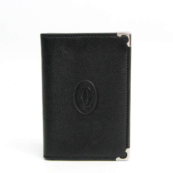 Cartier Must De Cartier L3001367 Leather Card Case Black,Bordeaux