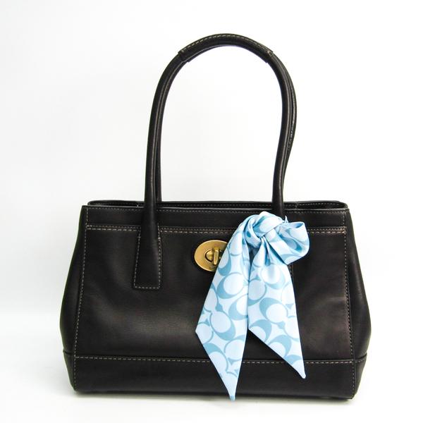 Coach Trim Medium Madeline 11553 Women's Leather Tote Bag Black