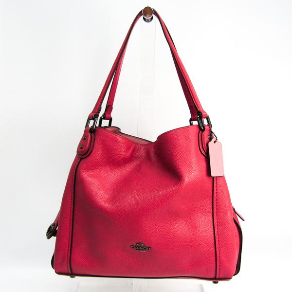 Coach Edie 57125 Women's Leather Shoulder Bag Dusty Pink