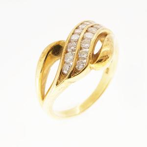 リング ダイヤモンド 0.5 ct K18YG イエローゴールド 指輪