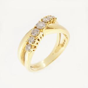 (Unspecified) リング ダイヤモンド K18イエローゴールド(K18YG) ダイヤモンド 指輪・リング カラット/0.33 イエローゴールド(YG)