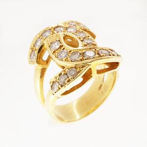 リング ダイヤモンド 1.02 ct K18YG イエローゴールド 指輪