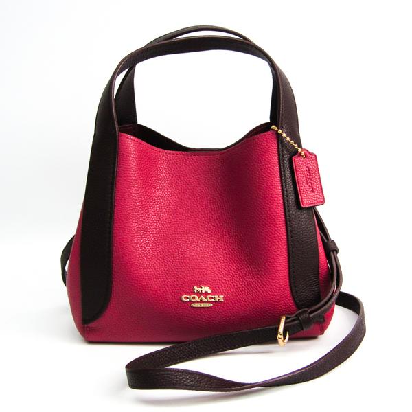 Coach Hadley Hobo Color Block Japan Limited Color 88151 Women's Leather Handbag,Shoulder Bag Bordeaux,Dark Brown,Dusty Pink