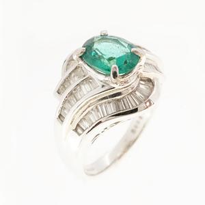 リング トルマリン 1.020 ct ダイヤモンド 0.80 ct Pt850 プラチナ 指輪