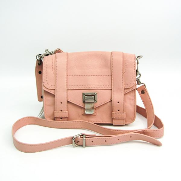 Proenza Schouler H00138 L029 Leather Shoulder Bag Light Pink