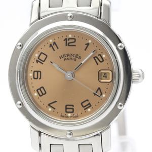 【HERMES】エルメス クリッパー ステンレススチール クォーツ レディース 時計 CL4.210