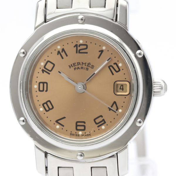 HERMES Clipper Stainless Steel Quartz Ladies Watch CL4.210