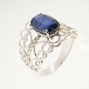 リング サファイア 3.240 ct ダイヤモンド 0.16 ct Pt900 プラチナ 指輪