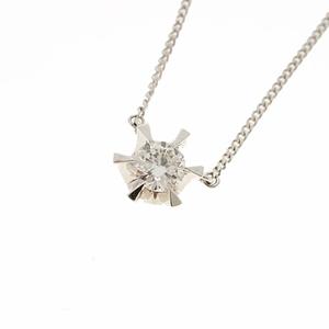 ネックレス ダイヤモンド 0.435 ct Pt850/900 プラチナ 一粒ダイヤ ペンダント