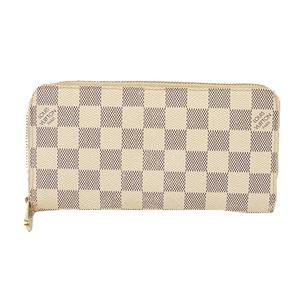 ルイヴィトン 二つ折り長財布 ダミエアズール ジッピーウォレット N60019