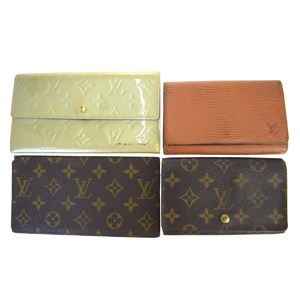 ルイ・ヴィトン(Louis Vuitton) 4 セット 財布 モノグラム ヴェルニ エピ パテントレザー レザー キーケース ブラウン,シルバー