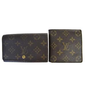 ルイ・ヴィトン(Louis Vuitton) モノグラム 2セット 財布 レザー キーケース ブラウン