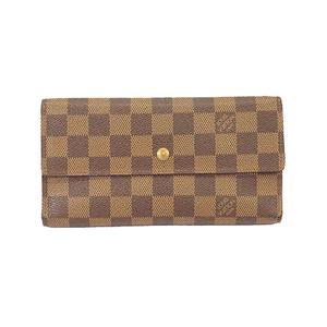 ルイヴィトン 三つ折り長財布 ダミエ ポルトフォイユインターナショナル N61217