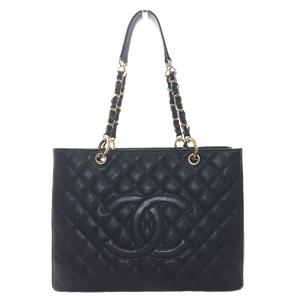 シャネル(Chanel) キャビア・スキン A50995 レディース レザー ショルダーバッグ ブラック