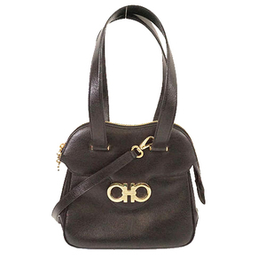 Salvatore Ferragamo Gancini 2WAY Bag Women's Leather Handbag Shoulder Bag