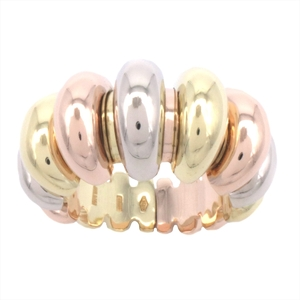 Bvlgari Certaura Pink Gold,White Gold,Yellow Gold (18K) Elegant,Fine Anniversary Ring Pink Gold,White Gold,Yellow Gold