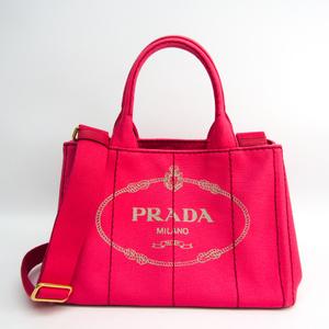 プラダ(Prada) カナパ B2439G レディース キャンバス トートバッグ Peonia(ぺオニア)