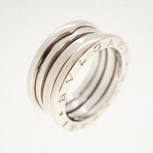 ブルガリ リング B-zero1 ビーゼロワン K18WG ホワイトゴールド 2バンドリング 指輪