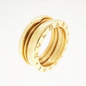 ブルガリ リング B-zero1 ビーゼロワン K18YG イエローゴールド 2バンドリング 指輪