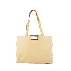 Salvatore Ferragamo Tote Bag Cream Leather