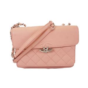 Auth Chanel Matelasse Chain Shoulder Women's Leather Shoulder Bag Pink