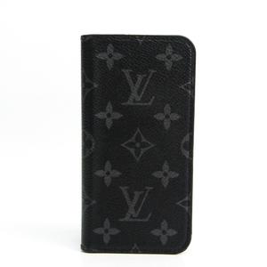 ルイ・ヴィトン(Louis Vuitton) モノグラム・エクリプス iPhone X & XS・フォリオ M63446 モノグラムエクリプス 手帳型/カード入れ付きケース iPhone X 対応