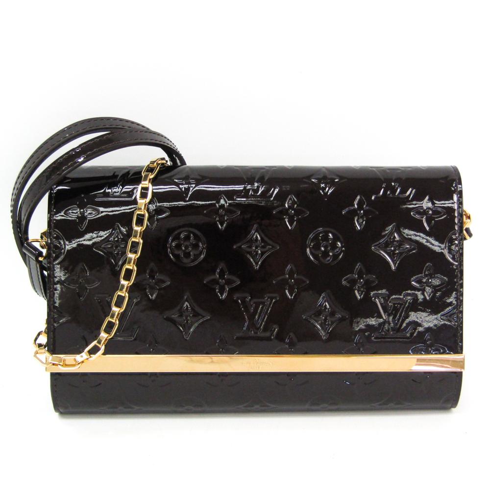 Louis Vuitton Monogram Vernis Ana Clutch M90093 Women's Shoulder Bag Amarante