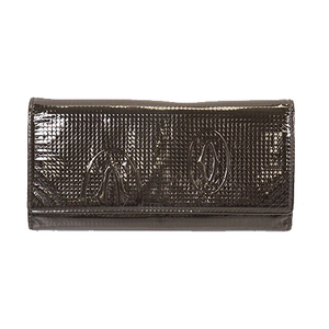Cartier Happy Birthday Long Wallet (bi-fold) Women's Patent Leather Black