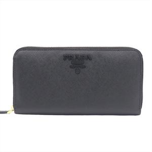 Prada Saffiano 1ML506 Unisex Leather Wallet Black