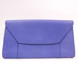 Valextra Women's Leather Clutch Bag Purple
