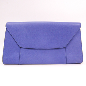 Valextra Women's Leather Clutch Bag Purple