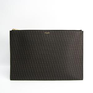 サン・ローラン(Saint Laurent) クラシック トワル 378261 メンズ PVC,レザー クラッチバッグ,ドキュメントケース ブラック,ブラウン
