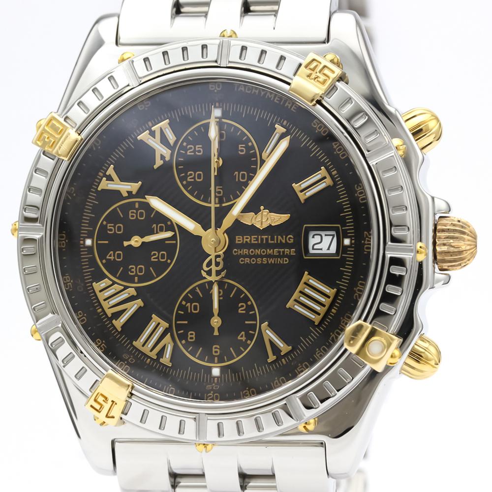 BREITLING Crosswind 18K Gold Steel Automatic Mens Watch B13355