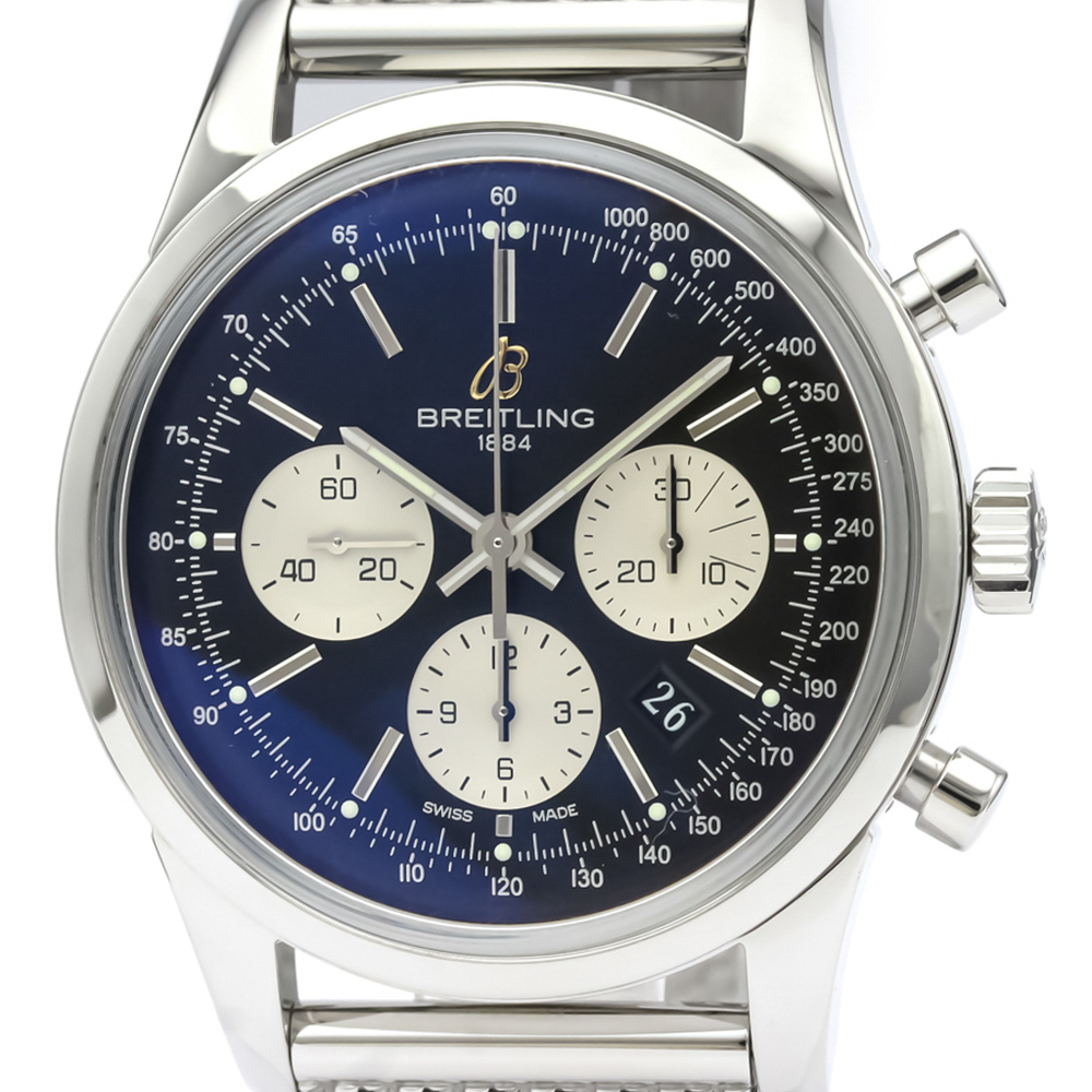 Breitling Transocean Automatic Stainless Steel Men's Sports Watch AB0151