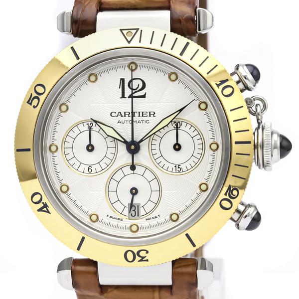 カルティエ(Cartier) パシャ 38 自動巻き ステンレススチール(SS),K18イエローゴールド(K18YG) メンズ ドレスウォッチ W3103655