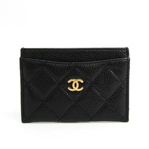 シャネル(Chanel) マトラッセ A31510 キャビアスキン カードケース ブラック