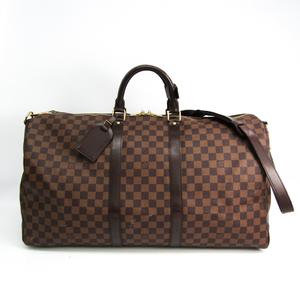 ルイ・ヴィトン(Louis Vuitton) ダミエ キーポル・バンドリエール55 N41414 レディース ボストンバッグ エベヌ
