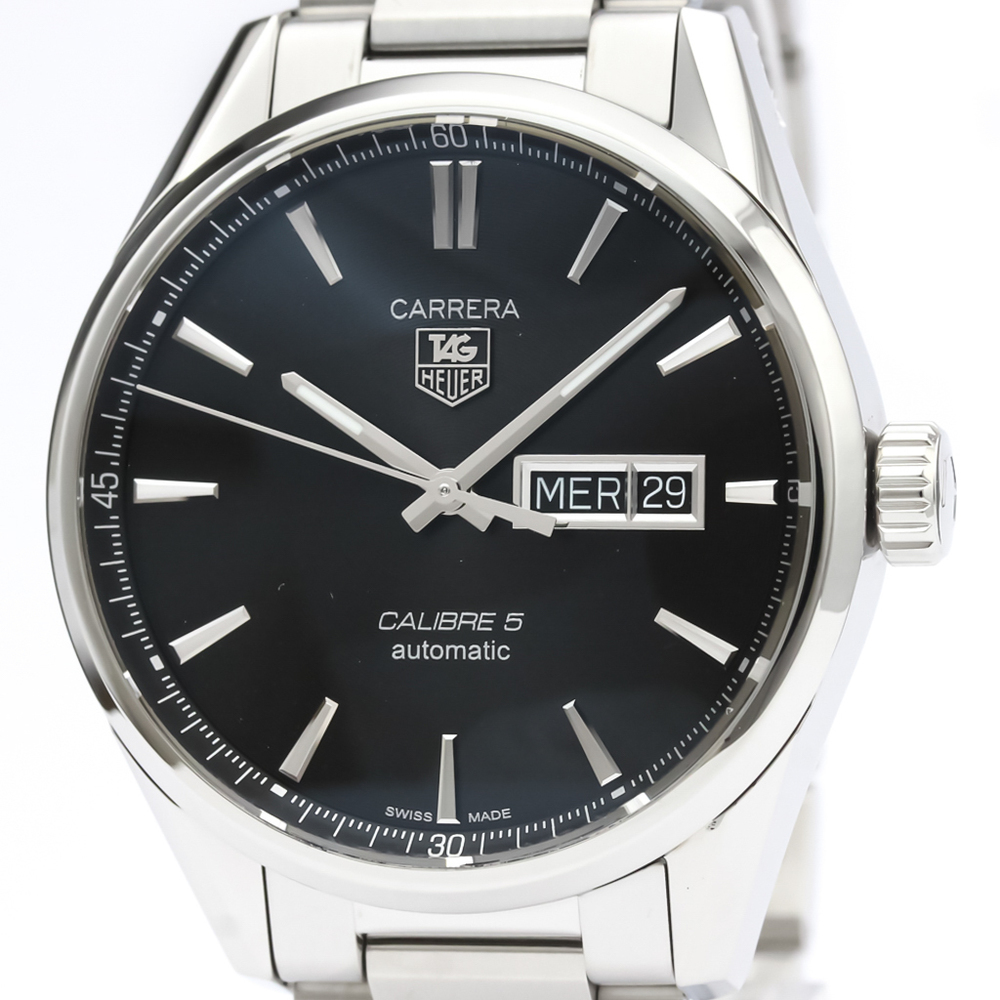 TAG HEUER Carrera Calibre 5 Day Date Automatic Watch WAR201A