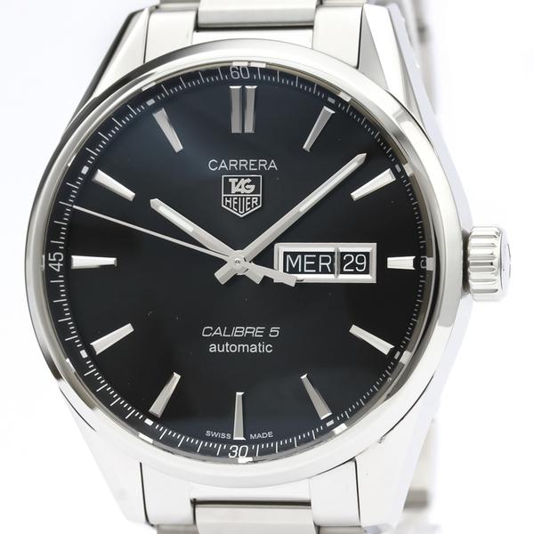 【TAG HEUER】タグホイヤー カレラ キャリバー5 デイデイト ステンレススチール 自動巻き メンズ 時計 WAR201A
